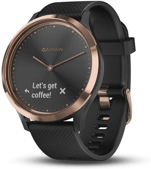 $75 off Garmin Vivomove HR Smartwatch, Rose Gold with Black, Sport, Small/Medium $124.99