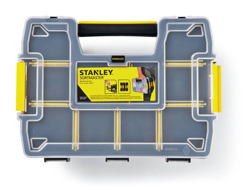 Stanley Sort Master Light 11.5 in. W x 2.9 in. H Storage Organizer Plastic 8 compartments Yellow, $4.99 Ace Hardware