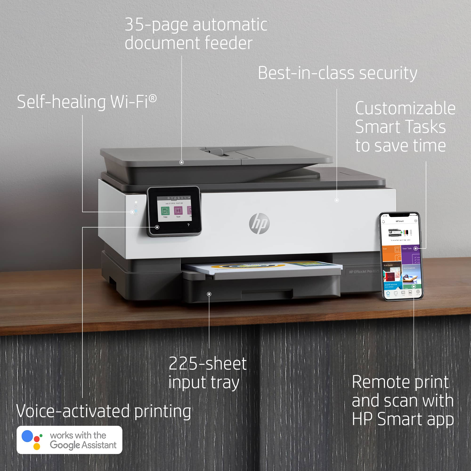YMMV HP OfficeJet Pro 8025 Wireless Color Inkjet All-In-One Printer w/ Smart Tasks and HP Instant Ink, $74.99 Before Tax, Staples