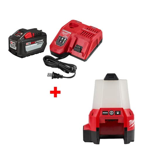 Milwaukee M18 HD 12.0 Starter Kit with FREE M18 Compact Site Light $249