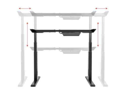 Monoprice Sit/Stand Desk Frame w/ Dual Motor Height Adjustment $250 + Free Shipping at Ebay
