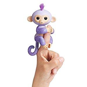 Fingerlings - Interactive Baby Monkey - Kiki (Purple Glitter with Purple Hair) $17.99