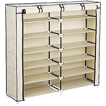 SONGMICS 7-Tier Portable Shoe Rack Organizer 36-Pair Shoe Storage Cabinet  $26.34
