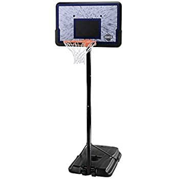 Lifetime 1221 Pro Court Height Adjustable Portable Basketball System, 44 Inch Backboard  $75