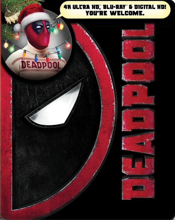 Deadpool [SteelBook] [4K Ultra HD Blu-ray/Blu-ray]  $20