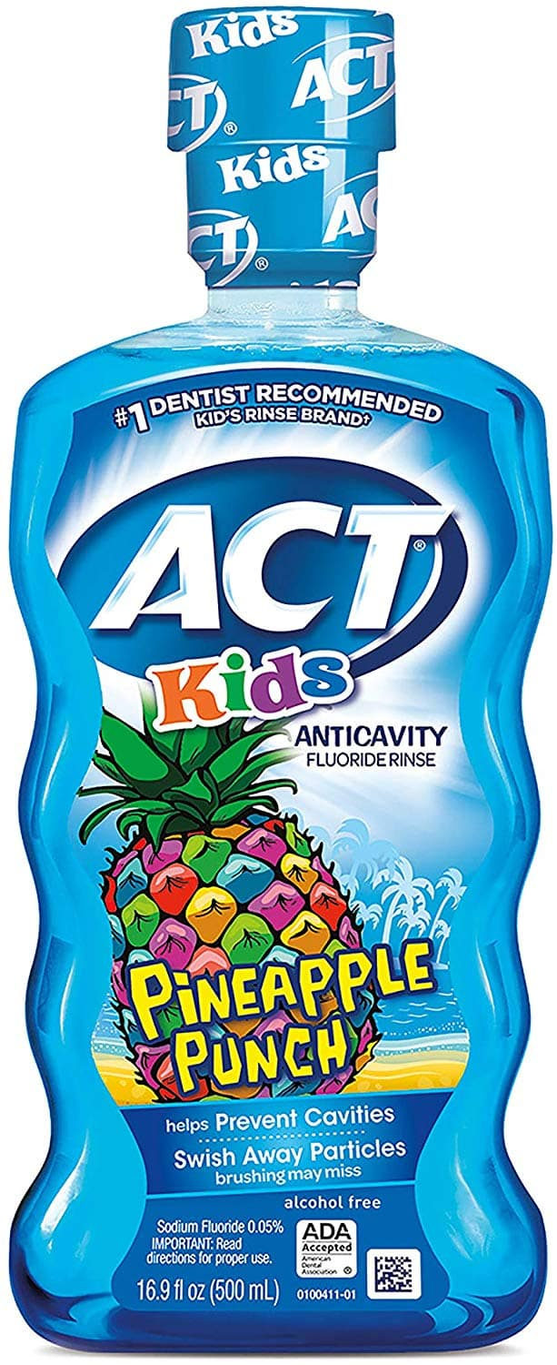 Amazon Save $5 when buy 4 discount: ACT Kids Anticavity Fluoride Rinse: 4 for $11  (about $2.70 each)