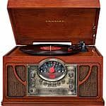 Crosley CR7008A-PA Symphony 3-Speed Turntable with CD Player and Portable Audio Ready - Sale $89.99