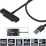 Sabrent USB 3.0 to SSD / 2.5-Inch SATA Hard Drive Adapter w/ UASP Support $9 + FS w/ Prime or orders $35+