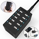 Sabrent 10-Port USB Charger $24 or Bundled w/ 6-Pack of Sabrent MicroUSB Cables: 1ft Cables $28, 3ft Cables $30 + Free Shipping