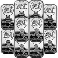eBay Deal: SilverTowne Logo 1oz .999 Fine Silver Bar, 10ct. $178.99 (or less) w/ fs - ebay Deal of the Day