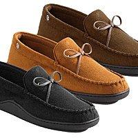 Tanga Deal: Isotoner Men's Memory Foam Moccasin Slippers (various colors)