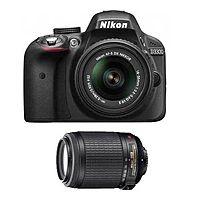 eBay Deal: Nikon D3300 DSLR w/ 18-55mm VR II + 55-200mm VR Lens (Refurb)