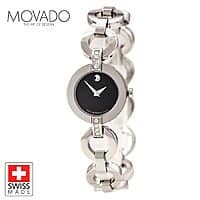 Shnoop Deal: Movado 606263 Ladies Belamoda Collection Diamond Accented Watch $440 + Free Shipping