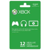 Boxed Deal Deal: 12-Month Microsoft Xbox Live Gold Membership (Email Delivery)