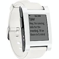 CowBoom Deal: Pebble Smart Watch for iPhone & Android Devices (White, Pre-Owned) $30 + Free Shipping