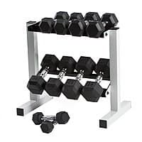 Walmart Deal: 150-Pound CAP Barbell Cast Iron Rubber Hex Dumbbell Set
