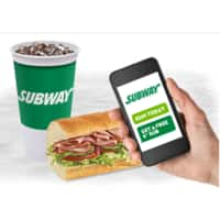 "Subway Coupon: Purchase 30oz Soft Drink & Get 6"" Classic Sub"
