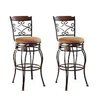 "Set of 2 Acme Tavio 29"" Swivel Bar Chairs"