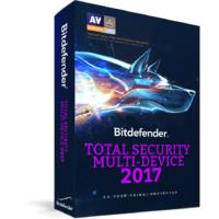 1-Year Bitdefender 2017: Total Security $18, Antivirus Plus