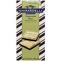 4-Pack 3.5oz Ghirardelli Dark Chocolate Bars (Peppermint Bark)