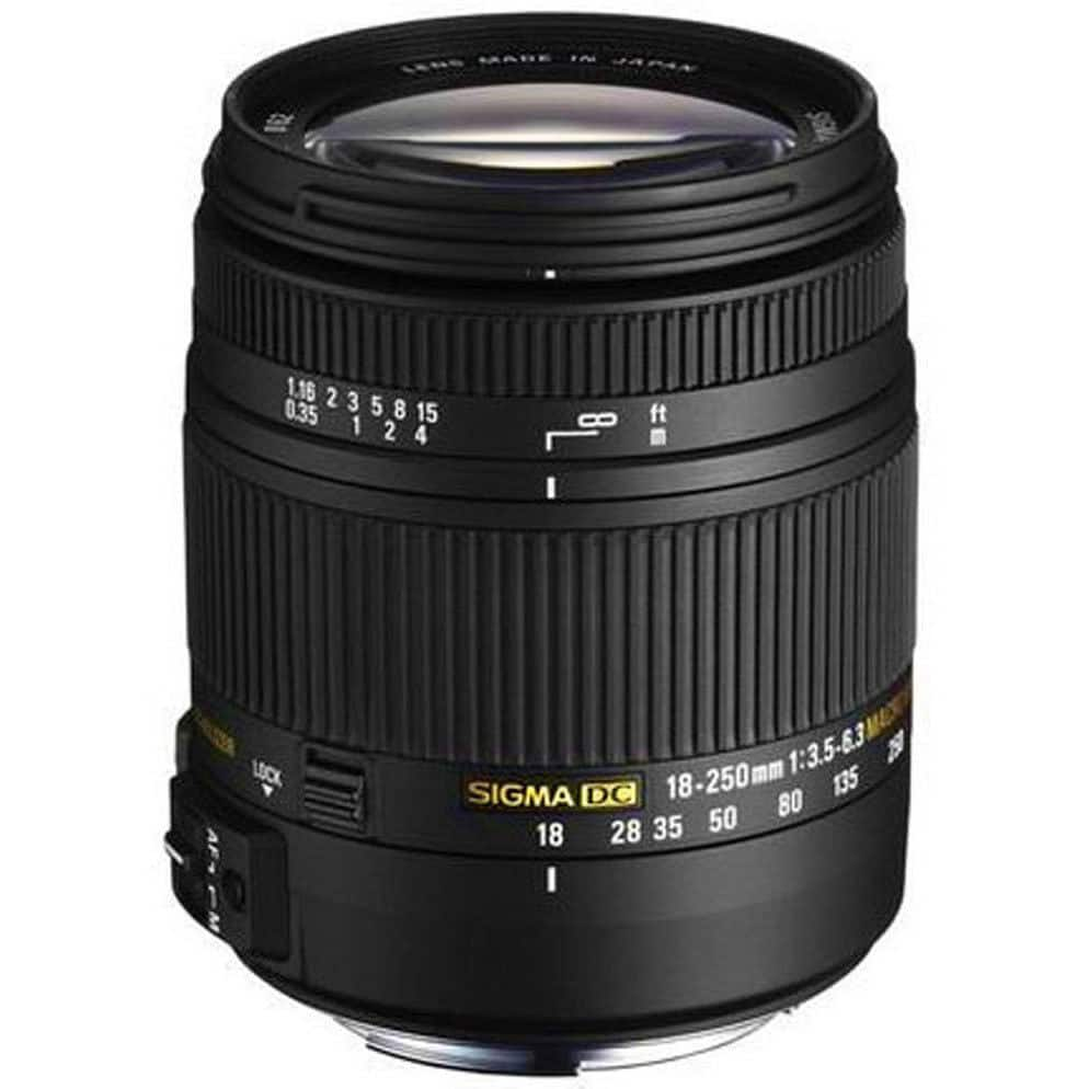 Sigma 18-250mm f3.5-6.3 DC MACRO HSM for Canon EOS, Nikon, Sony Alpha or Pentax $249 + Free Shipping