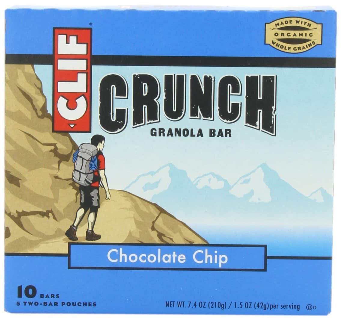 10-ct (7.4oz) Clif Crunch Granola Bars (Chocolate Chip)  $2.40 + Free Shipping