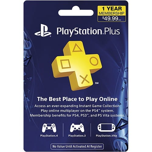 1-Year PlayStation Plus Membership $39.99 + Free Shipping *Now Live*