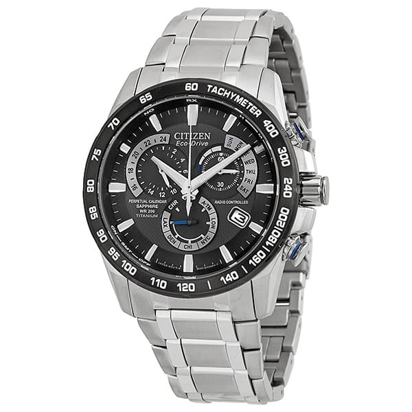 Citizen Men's AT4010-50E Perpetual Chrono A-T Eco-Drive Titanium Mens Chronograph Watch - $299.99