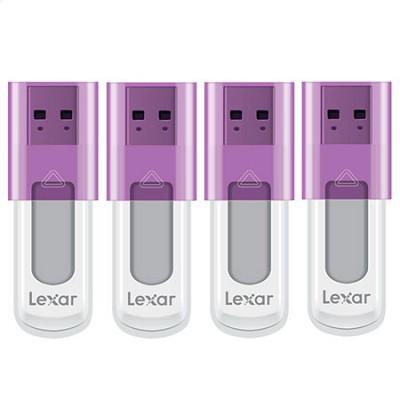 4-Pack Lexar 16GB JumpDrive USB 2.0 Flash Drives (Purple) $19 + Free Shipping