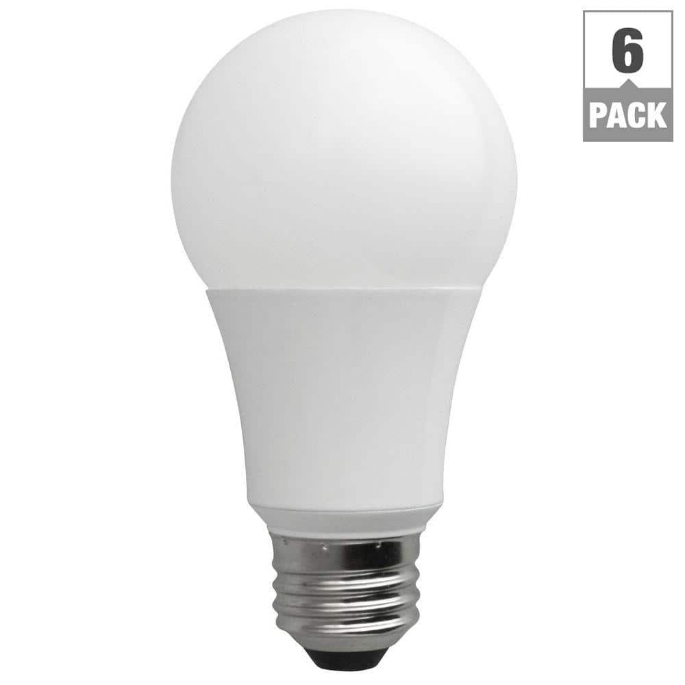 6-Pack Daylight 5000K 60W Equivalent TCP A19 Non-Dimmable LED Light Bulbs $19 + Free Store Pickup