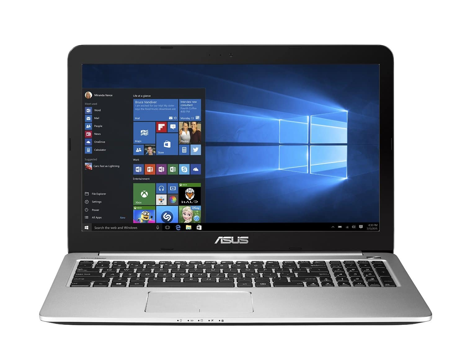 "ASUS 15.6"" 1080p Laptop, Skylake Dual Core i7, GTX 950M, 256GB SSD, 8GB RAM $769-Amazon"