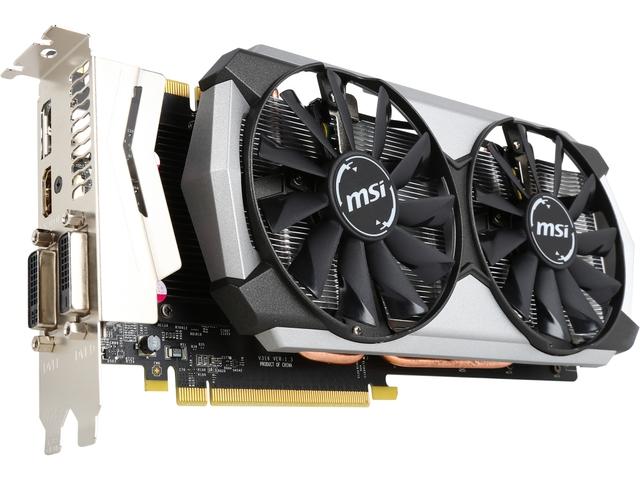 MSI GeForce GTX 970 GTX 970 4GD5T Titanium OC 4GB 256-Bit GDDR5 PCI Express 3.0 for $270 via Newegg/ eBay (possible $20 Rebate in addition)