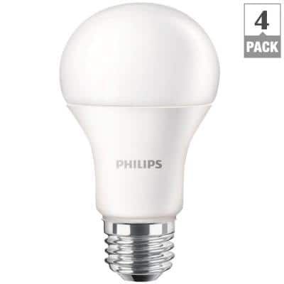 4-Pack Phillips 100W Equivalent Daylight A19 LED Light Bulbs  $30