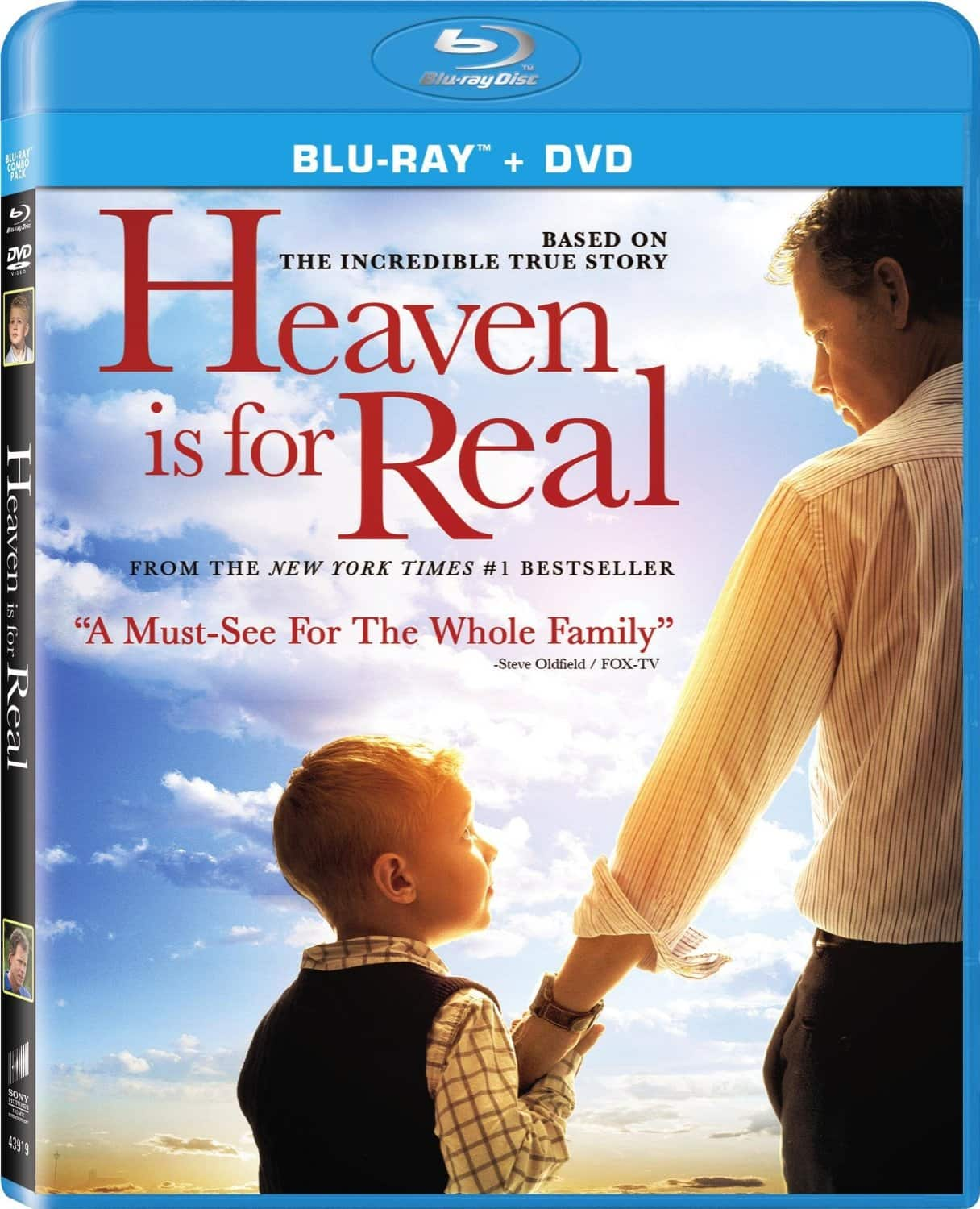Heaven is For Real (2 Discs) - Blu-ray/DVD/UltraViolet Combo Pack $2.99 FSSS or FS with prime