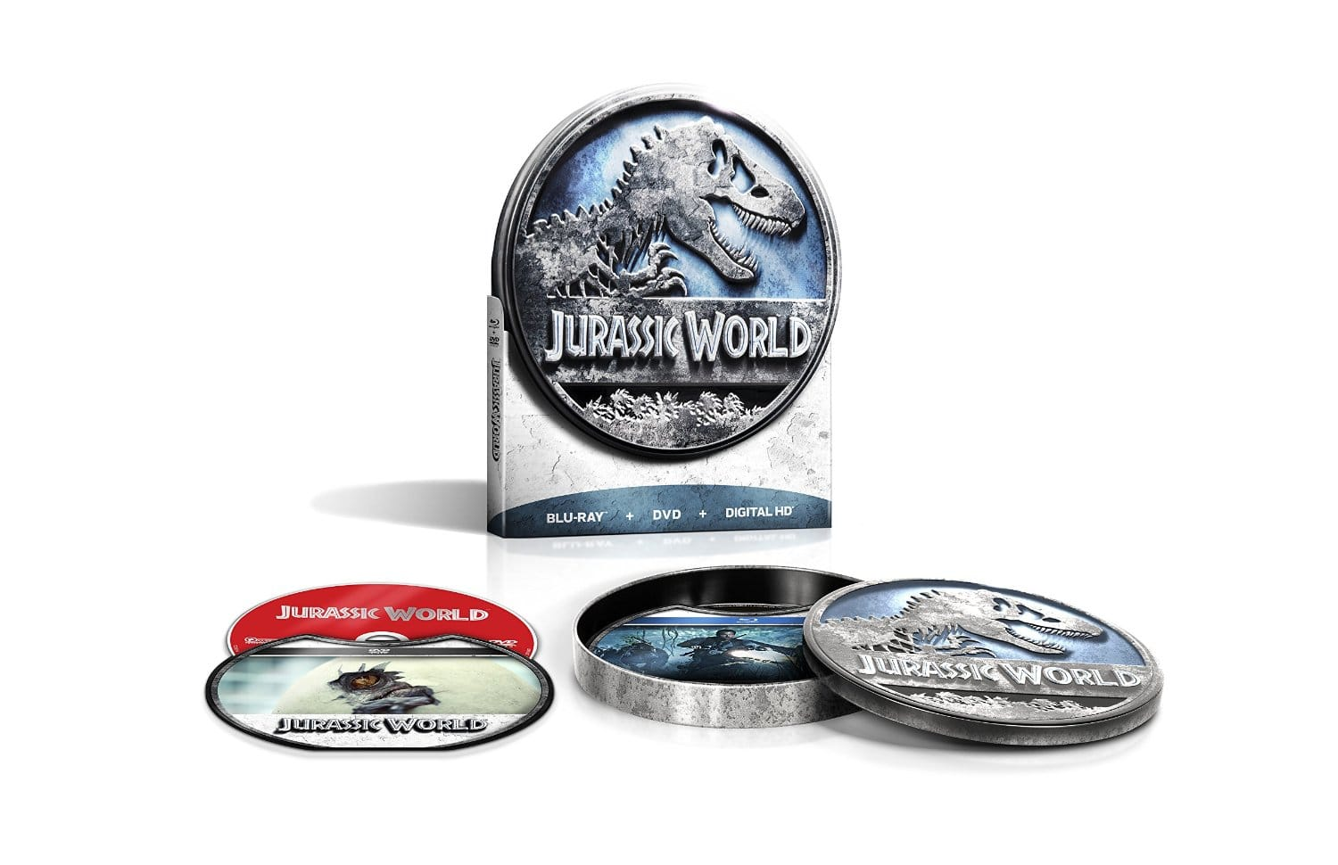 Jurassic World (Limited Edition) [Blu-ray, DVD, Digital] from Amazon $9.99