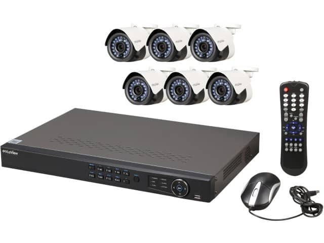 8-Channel LaView IP Surveillance System NVR + 6x 1080p Cameras  $450 + Free Shipping