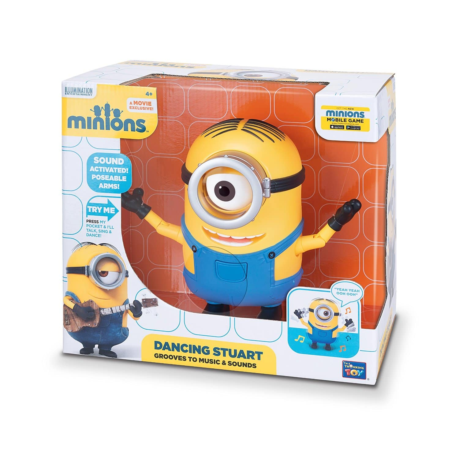 Minions Dancing Stuart $16.87 at Amazon FS with Prime