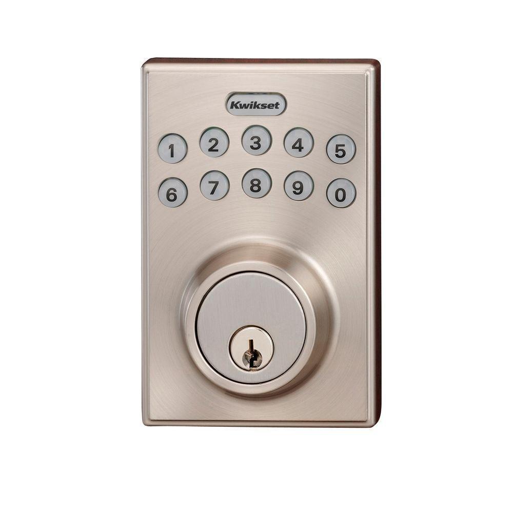 Kwikset SmartCode Deadbolt Door Lock $34 at Home Depot