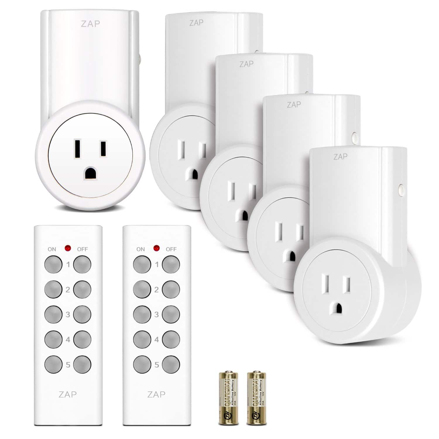 5-Pack Etekcity Wireless Outlet Light Switch w/ 2 Remotes  $21.50