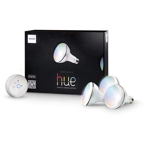 Philips hue 120-Lumen 8W Bloom Luminaire Starter Kit  $100 + Free S&H