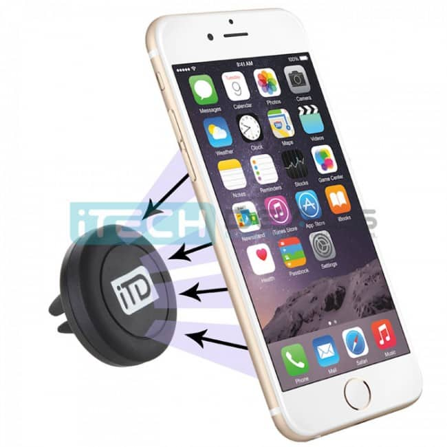 iTD Gear Universal Magnetic Car Vent Mount Holder for Smartphones (Black) $3.99 + Free Shipping