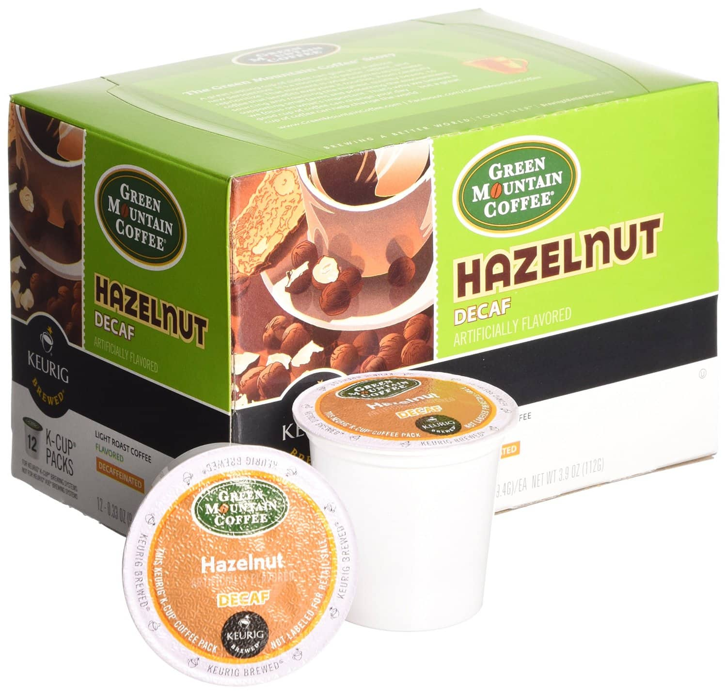Green Mountain Coffee Hazelnut Decaf, Keurig K-Cups, 72 Count - $17.82 or less with S&S or $18.72 without - Amazon - FS with Prime