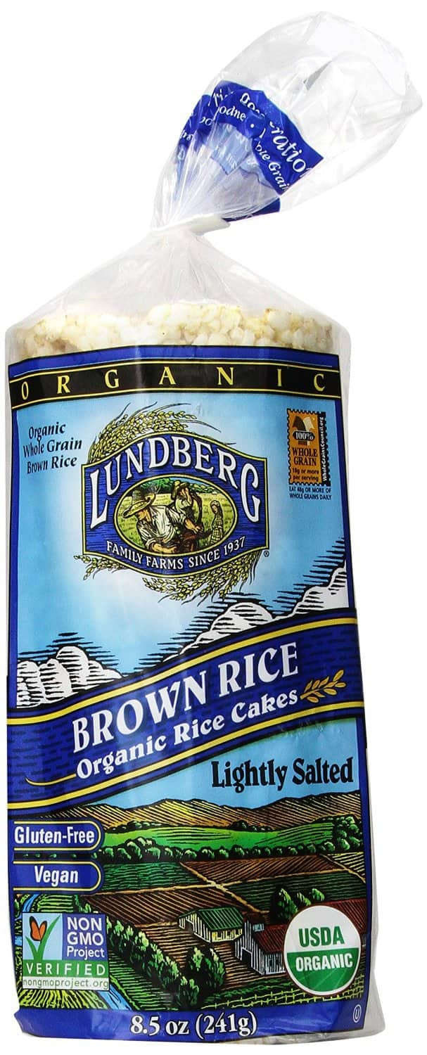 12-Pack of 8.5oz Lundberg Organic Brown Rice Cakes (Lightly Salted)  $8 + Free Shipping