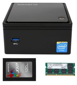 Mini PC combo $169. Brix J1900, 8 GB,  120 GB SSD
