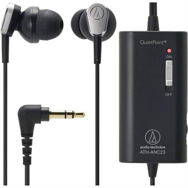 Audio-Technica ATH-ANC23 Noise-Cancelling In-Ear Headphones  $29 + Free Shipping