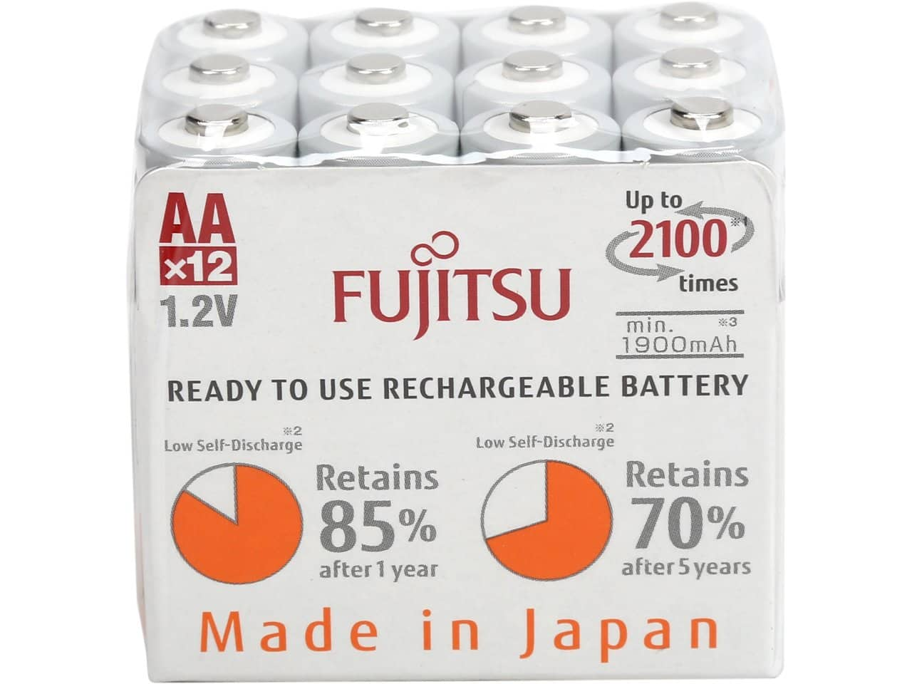 Fujitsu 12-Pack AA 2,000 mAh 2100 Cycle Ni-MH Pre-Charged Rechargeable Batteries (HR-3UTC(12M)EX) for $14.99 AR + Free Shipping @ Newegg.com