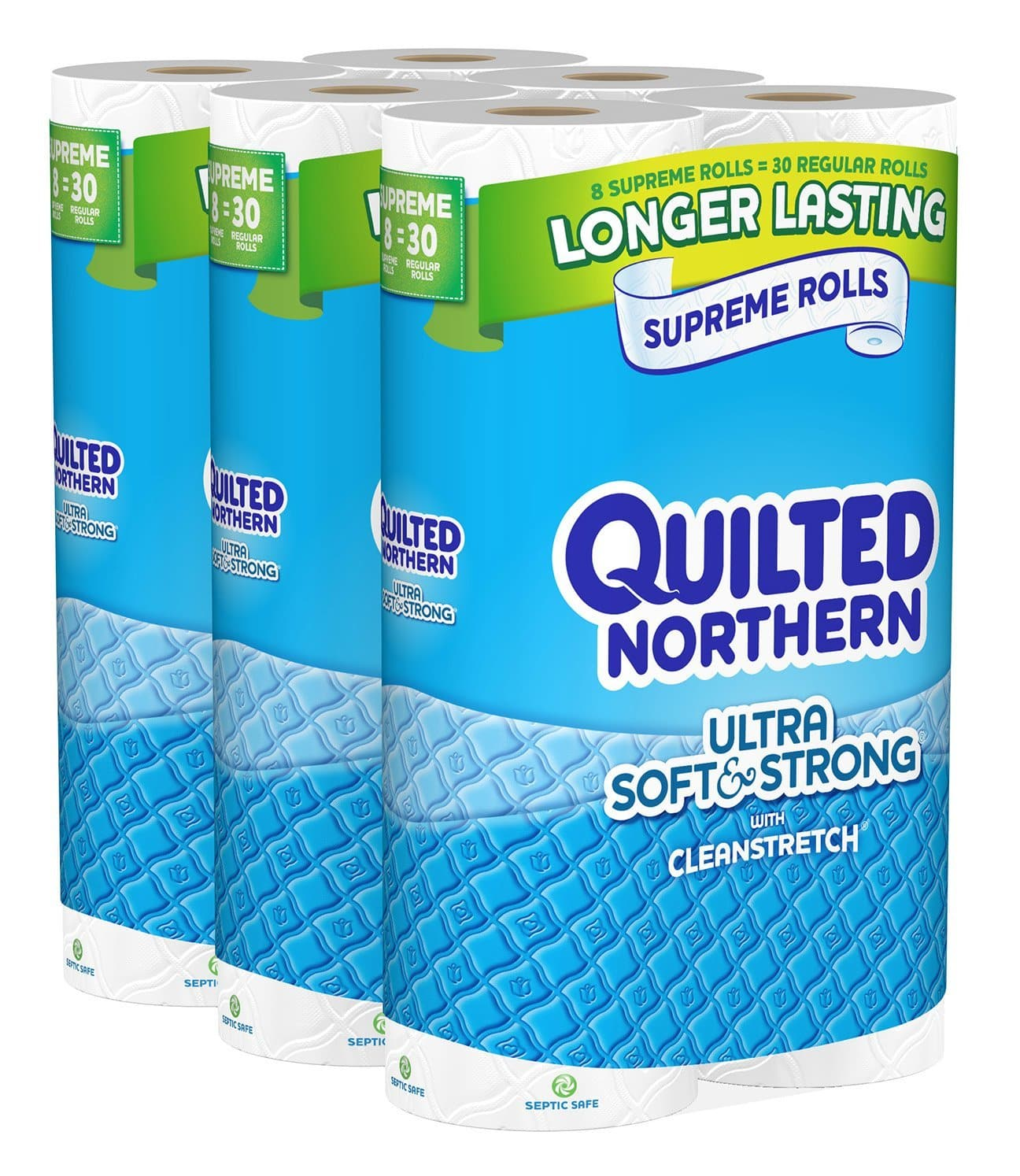 24-Count Supreme Rolls (= 93 Regular Roll) Quilted Northern Ultra Soft and Strong Bath Tissue $18.08 or Less + Free Shipping Amazon.com
