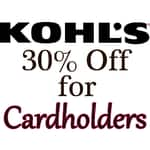 Kohl's Cardholders: Coupon for Online Orders  30% Off & More + Free S/H