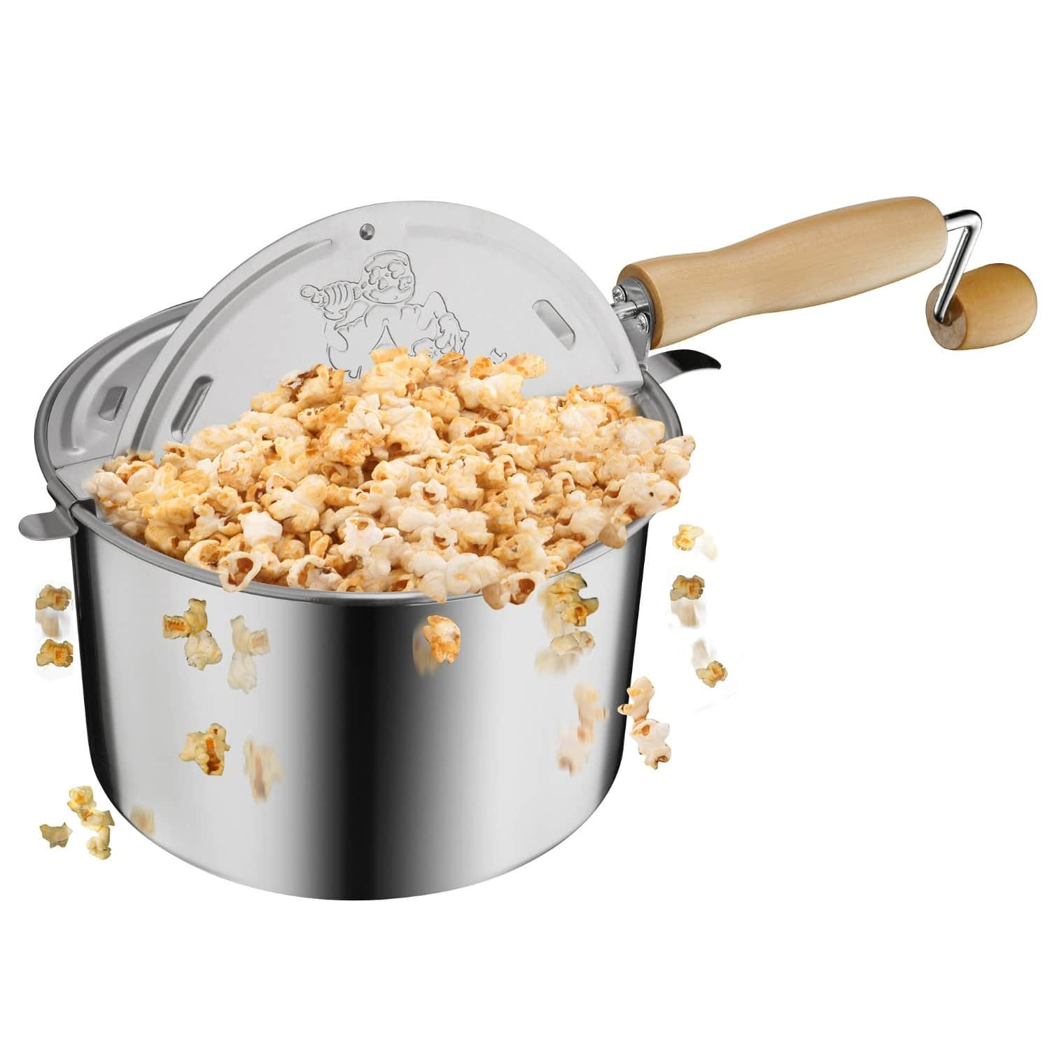 Great Northern Popcorn Original Stainless Steel Stove Top 6-1/2-Quart Popcorn Popper. $18.00 + Free Shipping w/Prime