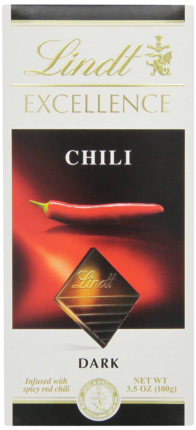 12-Pack of 3.5oz Lindt Excellence Dark Chocolate Bars (Chili)  $8.95 + Free Shipping